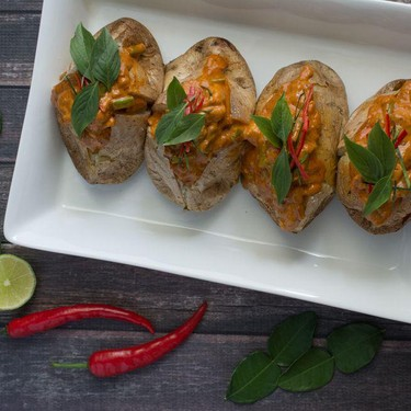 Thai Red Curry Baked Potato Recipe   SideChef