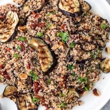 Sun-Dried Tomato, Aubergine, and Quinoa Salad Recipe | SideChef