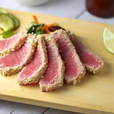 Sesame Crusted Ahi Tuna with Soy Ginger Lime Sauce Recipe | SideChef