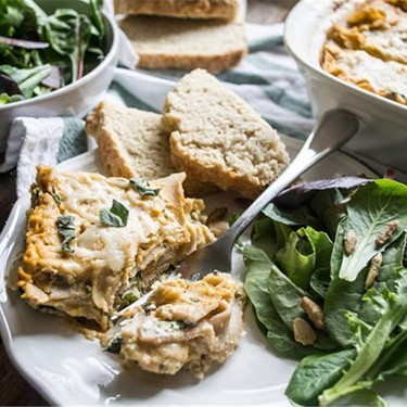 Three Cheese Butternut Squash and Spinach Lasagna Recipe   SideChef