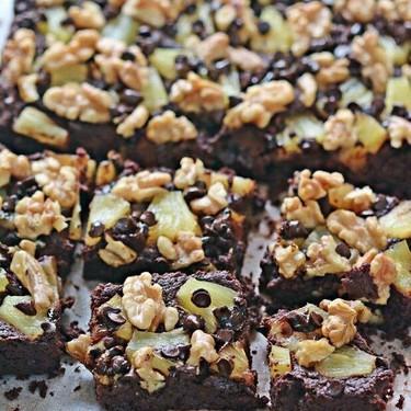 Pineapple Walnut Brownies Recipe | SideChef