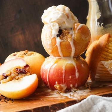 Cornbread and Cranberry Stuffed Apples Recipe | SideChef
