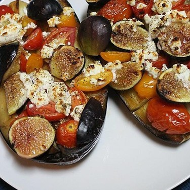 Baked Eggplant with Figs and Cherry Tomatoes Recipe   SideChef