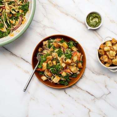 Grilled Chicken Salad and Creamy Pesto Ranch Recipe   SideChef