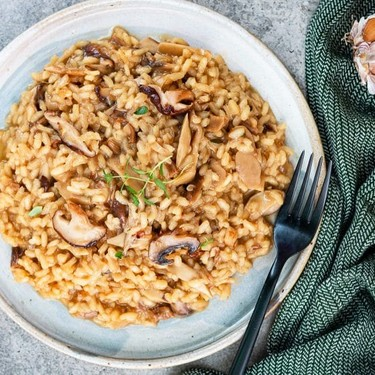 Vegan Creamy Mushroom Risotto Recipe | SideChef