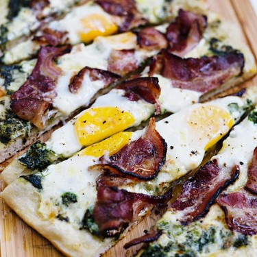 Green Eggs and Ham Grilled Pizza Recipe | SideChef