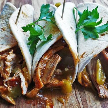 Braised Chicken Enchilada Tacos Recipe | SideChef