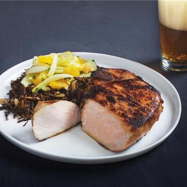 Pork Chops with Fennel Salad and Burdock Rice Recipe | SideChef