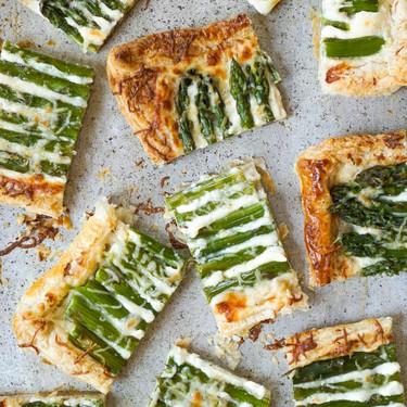 Pecorino Romano and Parmesan Asparagus Tart Recipe | SideChef