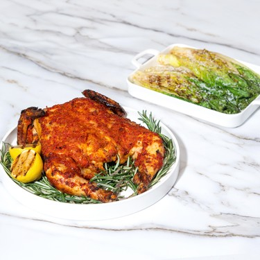 Spatchcocked Chicken with Grilled Romaine Salad Recipe   SideChef