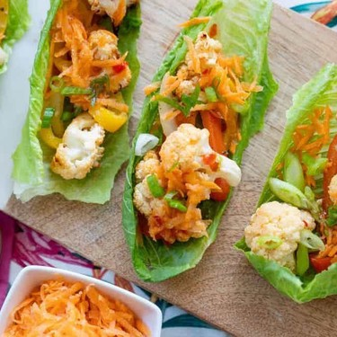 Vegan Cauliflower Lettuce Wraps Recipe   SideChef