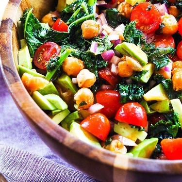 Kale Salad with Chickpeas Recipe | SideChef