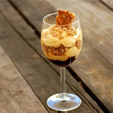 Pumpkin Mousse with Toffee Crunch Recipe   SideChef
