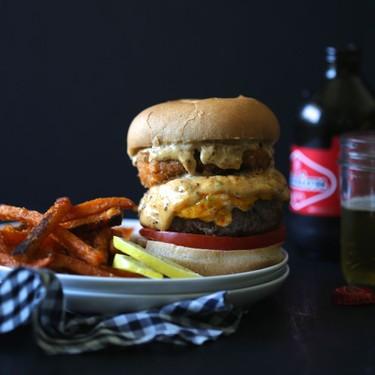 Surf n' Turf Pimento Burger with Cajun Remoulade Recipe | SideChef