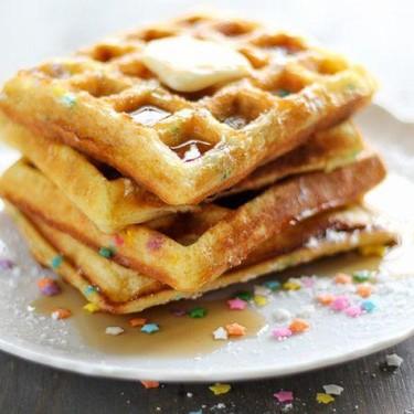 Funfetti Cake Waffles Recipe | SideChef