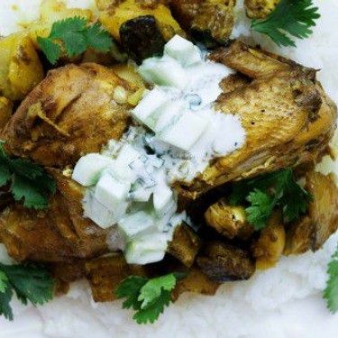 Indian Spiced Chicken with Raita Recipe | SideChef