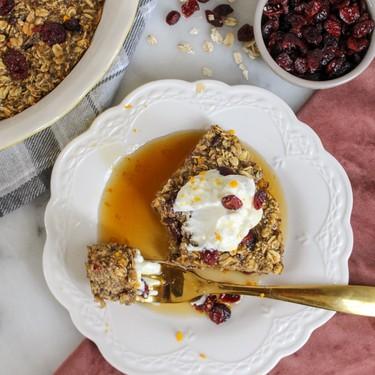 Cranberry Baked Oatmeal Recipe | SideChef