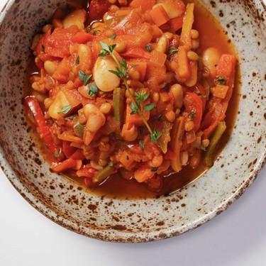 Mixed Bean and Pepper Ragu Recipe | SideChef