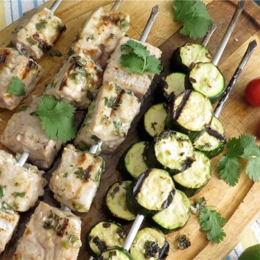 Lime-Cilantro Swordfish Kebabs Recipe   SideChef