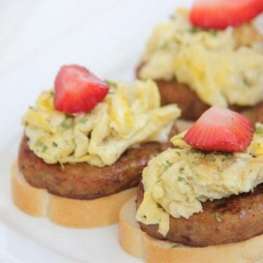 Sausage and Egg Breakfast Stacks Recipe   SideChef