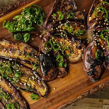 Black Garlic Glazed Miso Eggplant (Nasu Dengaku) Recipe | SideChef