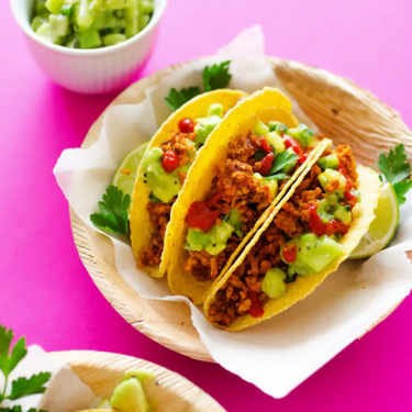 Tempeh Tacos with Avocado Kiwi Salsa Recipe   SideChef