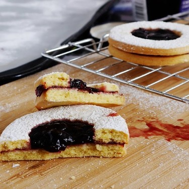 Linzer Cookies with Cherry Jam and Chocolate Recipe   SideChef