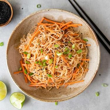 Kelp Noodle Salad with Peanut Dressing Recipe   SideChef
