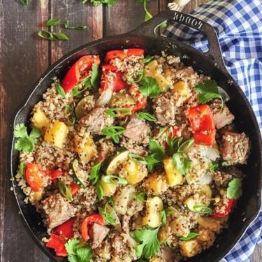 Pineapple Tuna Quinoa Skillet Recipe | SideChef