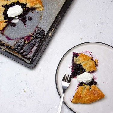 Lemon Blueberry Cream Cheese Galette Recipe | SideChef