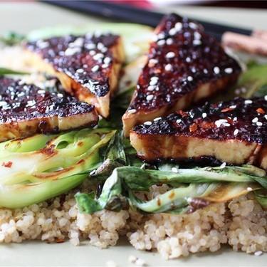Teriyaki Glazed Tofu with Sesame Seared Bok Choy Recipe | SideChef