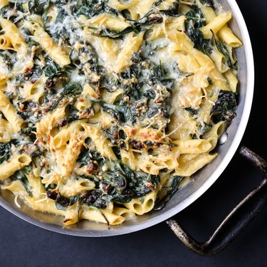 Healthy Mac and Cheese with Creamed Spinach Recipe | SideChef