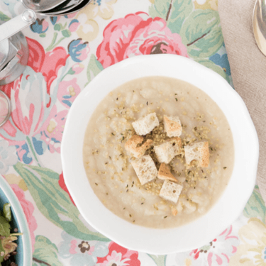 Celery Root Pear Soup with Super Tasty Croutons Recipe   SideChef