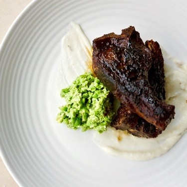 Brown Sugar Lamb Chops with Rosemary Pea Puree Recipe | SideChef