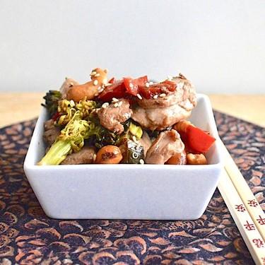 Sheet Pan Cashew Chicken Recipe | SideChef