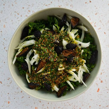 Kale, Shaved Fennel, and Dried Fig Salad Recipe   SideChef