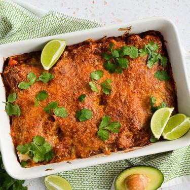 Gluten-Free Beef Chorizo, Kale & Sweet Potato Enchilada Casserole Recipe   SideChef