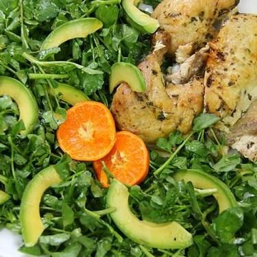 Avocado, Watercress Salad with a Clementine Vinaigrette Recipe | SideChef