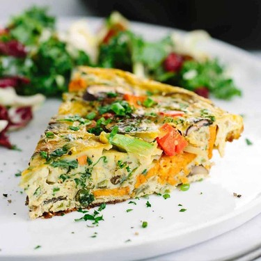 Savory Kale and Sweet Potato Frittata Recipe | SideChef