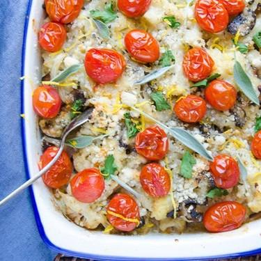 Cauliflower and Mushroom Gratin Recipe   SideChef