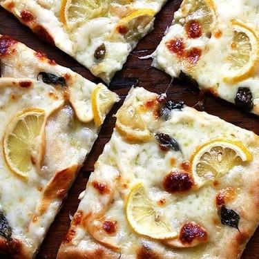 Pizza with Lemon, Smoked Mozzarella & Basil Recipe   SideChef