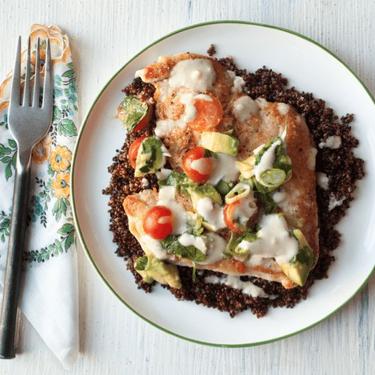 Chicken Paillard with Avocado Relish Tahini Recipe   SideChef
