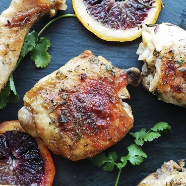 One Pan Herb & Citrus Roast Chicken Recipe | SideChef