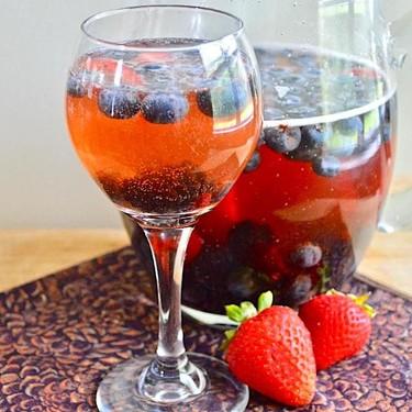 Sparkling Berry Rosé Sangria Recipe   SideChef