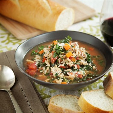 Turkey and Kale Soup with Brown Rice Recipe | SideChef