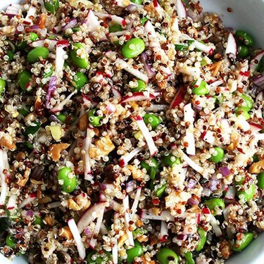 Quinoa with Walnuts, Radishes & Spring Onions Recipe | SideChef