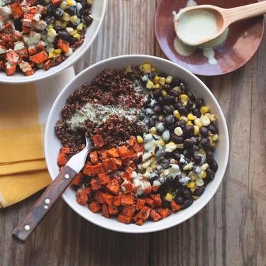 Sweet Potato and Black Bean Quinoa Bowl Recipe | SideChef