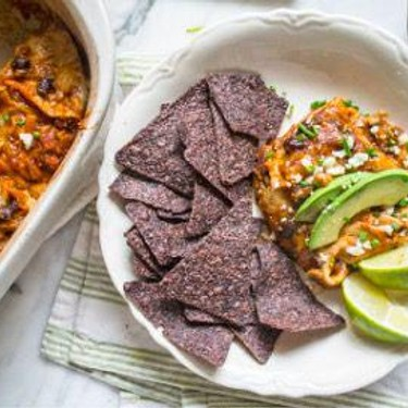 Healthy Pumpkin Black Bean Enchilada Casserole Recipe | SideChef