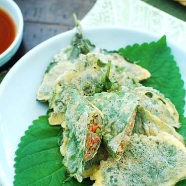 Kkaennip Jeon (Stuffed Perilla Jeon) Recipe   SideChef