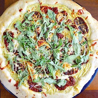 Sun-Dried Tomato Arugula White Pizza Recipe   SideChef